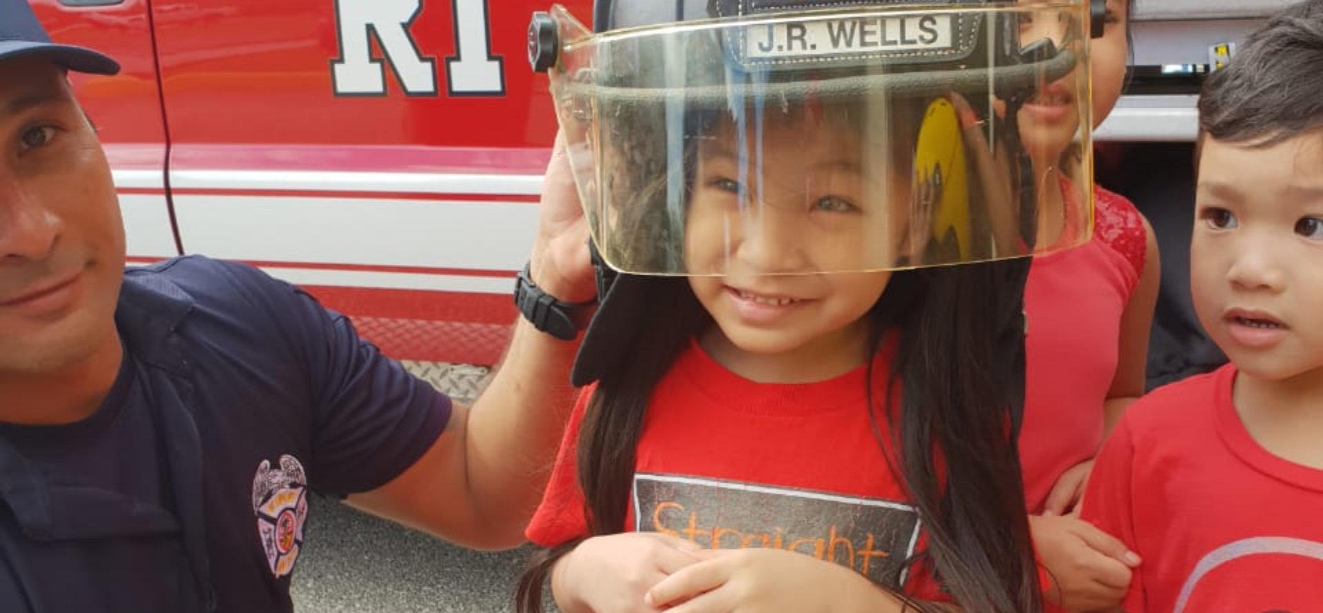 little boy firefighter