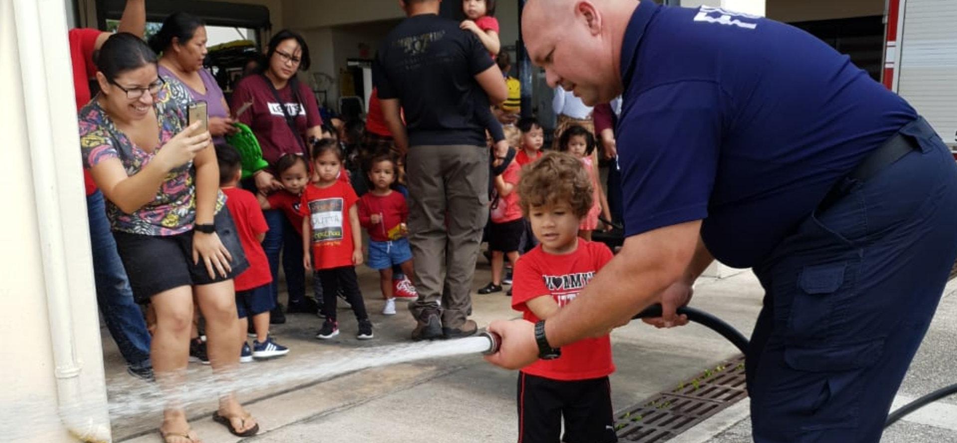 little girl firefighter