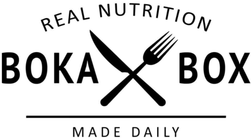 REAL NUTRITION BOKA BOX MADE DAILY logo